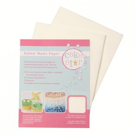 Cake Star Edible Wafer Paper -White- pk/12