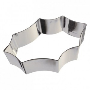Holly leaf stainless steel H30 100x65 mm (pack of 6)