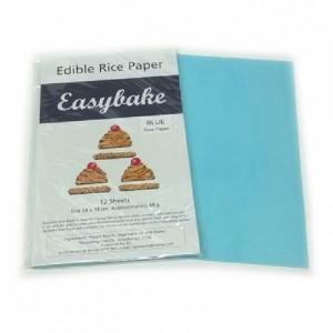 Feuilles de riz Culpitt bleues 12 pièces