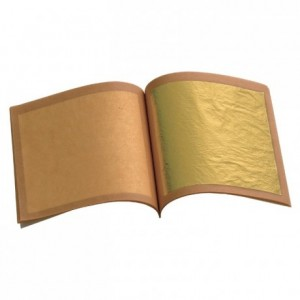 Feuilles d'or carnet 25 feuilles