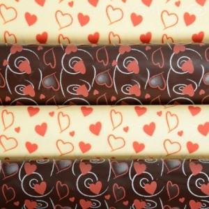 Transfer sheets hearts 12 units