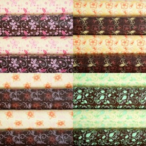 Transfer sheet assorted flowers (4 pcs)