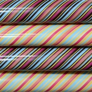 Feuille transfert lignes colorées par 4