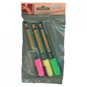 Feutres fluo rose/vert/jaune