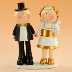 Figurine couple noces d'or