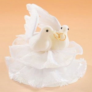 Decorative Figure Wedding - Dove with Rings