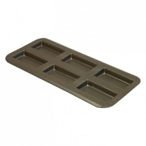 Financier pan 6 imprints non-stick 380x180 mm