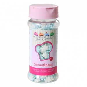 FunCakes Snowflakes White and Blue 50g