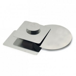 Fond de moule carré fer blanc 214x214 mm