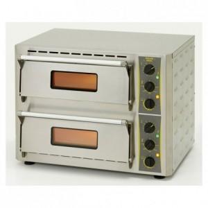 Four à pizza compact 2 étages 2 x 3 kW