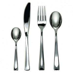 Fork, metal finish (500 pcs)