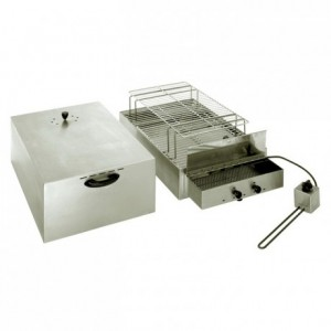 2-level smoker stainless steel