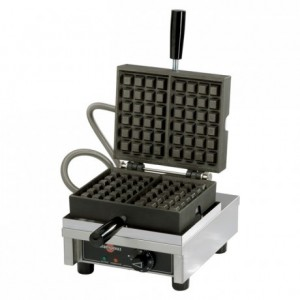 Electric waffle maker Pack resistance opening 90°