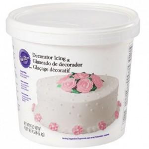Glaçage décoratif Wilton blanc 2 kg