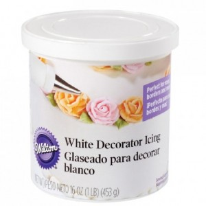 Glaçage Wilton blanc 450 g