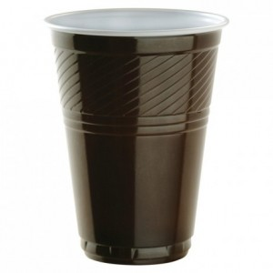 Drinking white and brown tumbler 21 cL (3000 pcs)