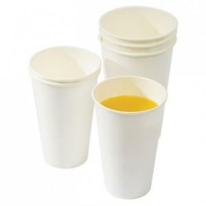 White cardboard for cold drink tumbler 40 cL (1000 pcs)