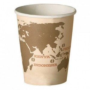 Gobelet World Map en carton imprimé 25 cL (lot de 60)