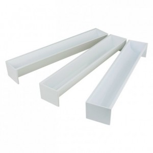 Yule log mould triangle polystyrene 470 x 65 x 70 mm