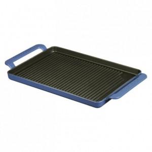 Grill fonte rectangle bleu L 420 mm
