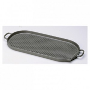 Oval griddle cast iron L 530 mm