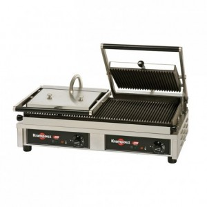 Multi-contact grill Easy Clean ridged double