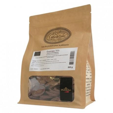 Guanaja 70% chocolat noir de couverture Mariage de Grands Crus fèves 500 g