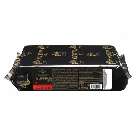 Guanaja 70% chocolat noir de couverture Mariage de Grands Crus blocs 3 kg