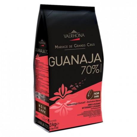 Guanaja 70% chocolat noir de couverture Mariage de Grands Crus fèves 3 kg