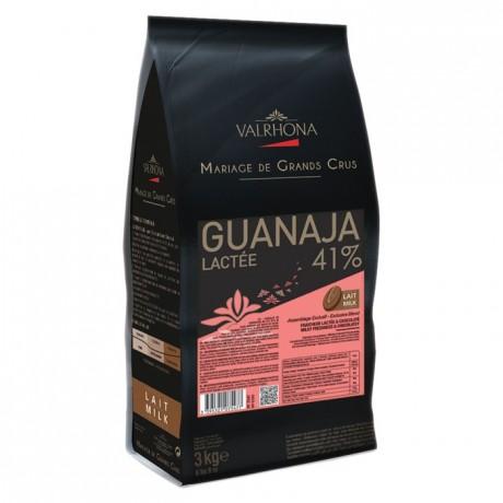 Guanaja Lactée 41% chocolat au lait de couverture Mariage de Grands Crus fèves 3 kg