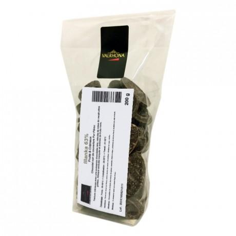 Illanka 63% chocolat noir de couverture pur Pérou fèves 200 g