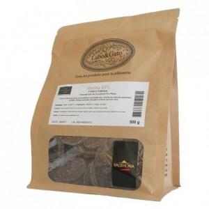 Illanka 63% chocolat noir de couverture pur Pérou fèves 500 g