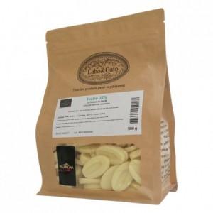 Ivoire 35% chocolat blanc de couverture Création Gourmande fèves 500 g