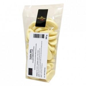 Ivoire 35% chocolat blanc de couverture Création Gourmande fèves 200 g