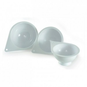 Jeu de 3 demi-sphères Ø 140 mm, Ø 160 mm, Ø 180 mm en plastique