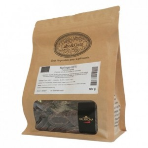 Kalingo 65% chocolat noir de couverture pur Grenade fèves 500 g