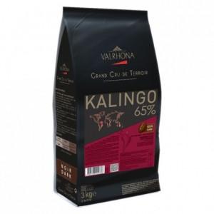 Kalingo 65% chocolat noir de couverture pur Grenade fèves 3 kg