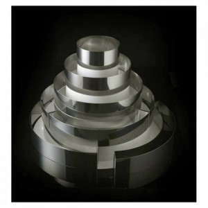 Kit with 5 stainless steel round shapes for French style Wedding Cake