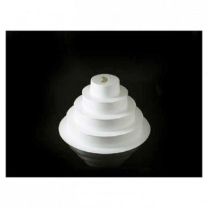Kit with 5 ABS round suppports for French style Wedding Cake