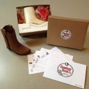 Kit CakeStructure chaussures de cowboy