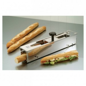 Spare blade with tightening button for baguette cutter