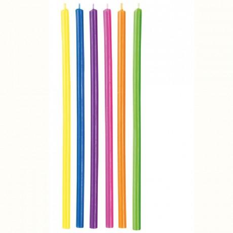 Longues bougies colorées Wilton 12 pièces