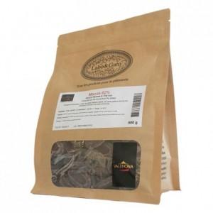 Macaé 62% chocolat noir de couverture pur Brésil fèves 500 g
