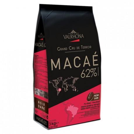 Macaé 62% chocolat noir de couverture pur Brésil fèves 3 kg