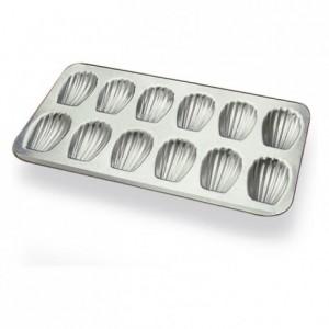 Madeleine pan 12 imprints aluminium 395x200 mm