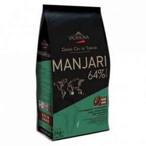 Manjari 64% chocolat noir de couverture pur Madagascar fèves 3 kg