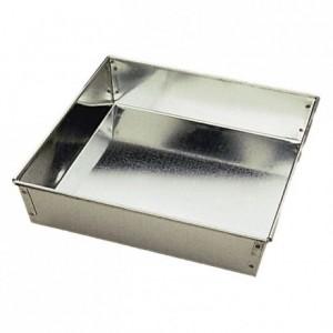 Manqué carré fer blanc 220x220 mm (lot de 3)
