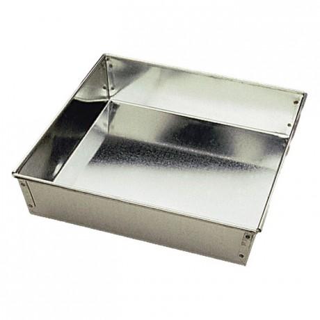 Manqué carré fer blanc 240x240 mm (lot de 3)
