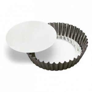 Round fluted cake mould loose bottom tin Ø200 mm (pack of 3)