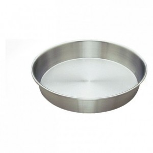 Round plain cake mould aluminium Ø200 mm (pack of 3)